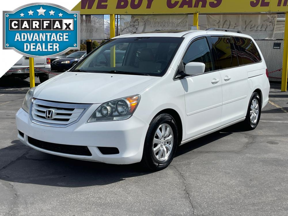 2008 Taffeta White /Tan Leather Honda Odyssey EX-L (5FNRL38768B) with an 3.5L V6 engine, Automatic transmission, located at 801 South State Street, Salt Lake City, UT, 84111, (801) 328-0098, 40.751953, -111.888206 - Photo #0