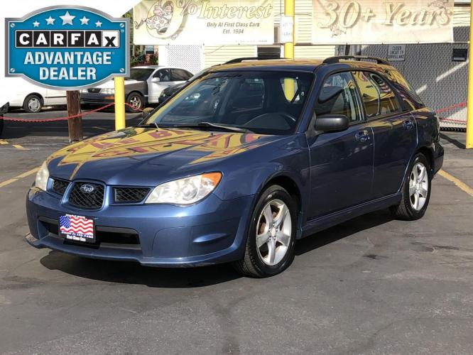 2007 Newport Blue Pearl /Gray Cloth Subaru Impreza Wagon 2.5i (JF1GG61637G) with an 2.5L H4 engine, Manual transmission, located at 801 South State Street, Salt Lake City, UT, 84111, (801) 328-0098, 40.751953, -111.888206 - Photo #0