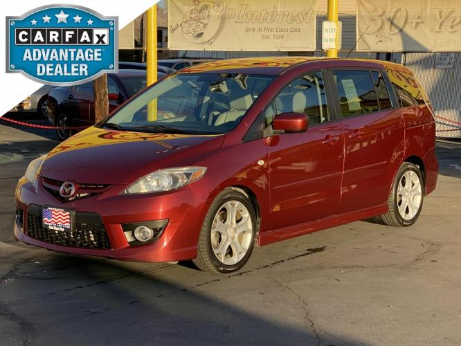 2008 Copper Red Mica /Gray Cloth Mazda Mazda5 Touring (JM1CR293780) with an 2.3L I4 engine, Automatic transmission, located at 801 South State Street, Salt Lake City, UT, 84111, (801) 328-0098, 40.751953, -111.888206 - Photo #0