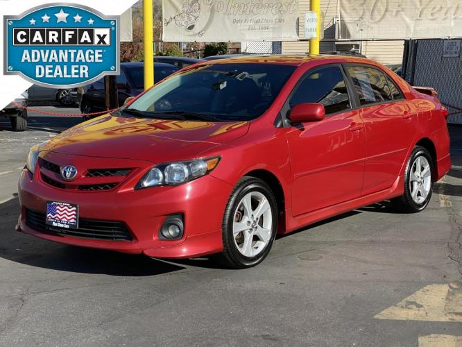 2011 Barcelona Red Mica /Gray Cloth Toyota Corolla S (2T1BU4EE5BC) with an 1.8L I4 engine, Automatic transmission, located at 801 South State Street, Salt Lake City, UT, 84111, (801) 328-0098, 40.751953, -111.888206 - Photo #0