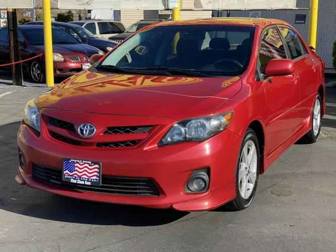 2011 Barcelona Red Mica /Gray Cloth Toyota Corolla S (2T1BU4EE5BC) with an 1.8L I4 engine, Automatic transmission, located at 801 South State Street, Salt Lake City, UT, 84111, (801) 328-0098, 40.751953, -111.888206 - Photo #3