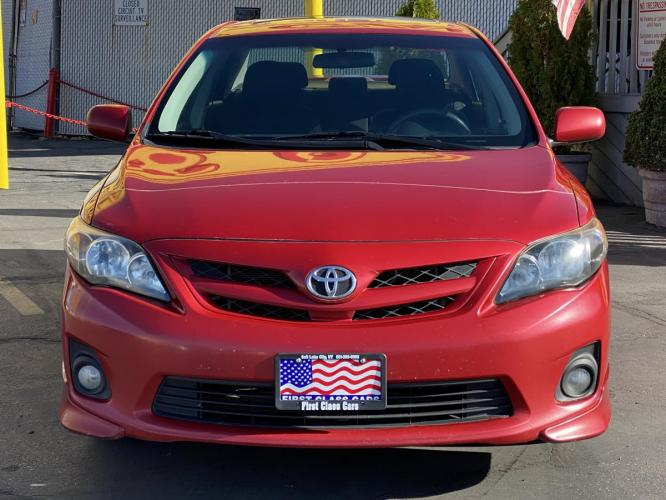 2011 Barcelona Red Mica /Gray Cloth Toyota Corolla S (2T1BU4EE5BC) with an 1.8L I4 engine, Automatic transmission, located at 801 South State Street, Salt Lake City, UT, 84111, (801) 328-0098, 40.751953, -111.888206 - Photo #4
